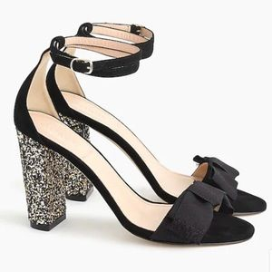J. Crew glitter Sandals